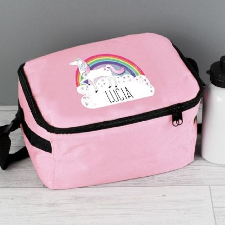 Personalised Unicorn Pink Lunch Bag